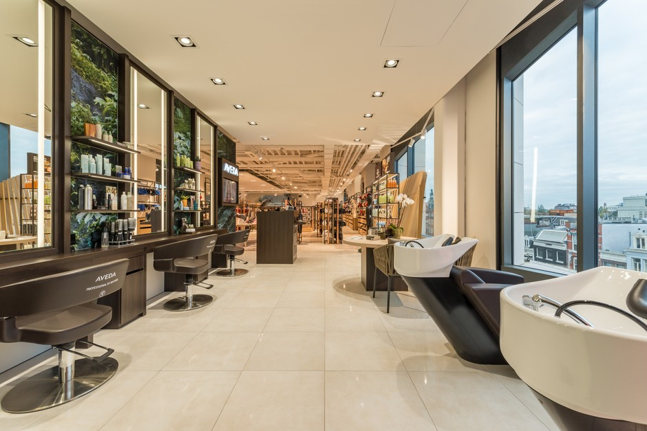 Aveda Salon @ Hudson's Bay Amsterdam by PAC Interiors